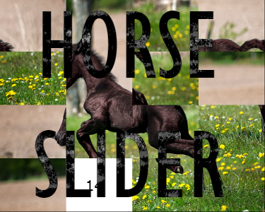 A horse slider puzzle