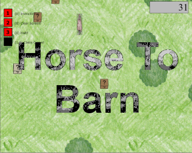 Guide the horse to its barn